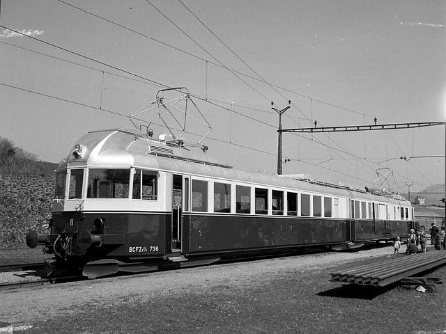 Der damals brandneue Blaue Pfeil - 1939 in Boudry