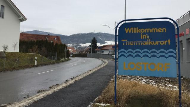 Dorfeingangsschild von Lostorf