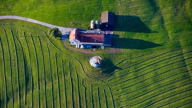 Bauernhof von oben