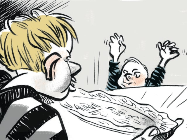 Zwei Kinder Comic