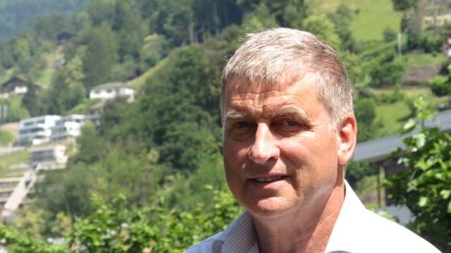 Gemeindepräsident Noldi Küttel in Vitznau.