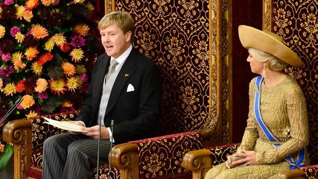 Willem-Alexander eröffnete am Dienstag in Den Haag das neue parlamentarische Jahr. An seiner Seite: Königin Máxima