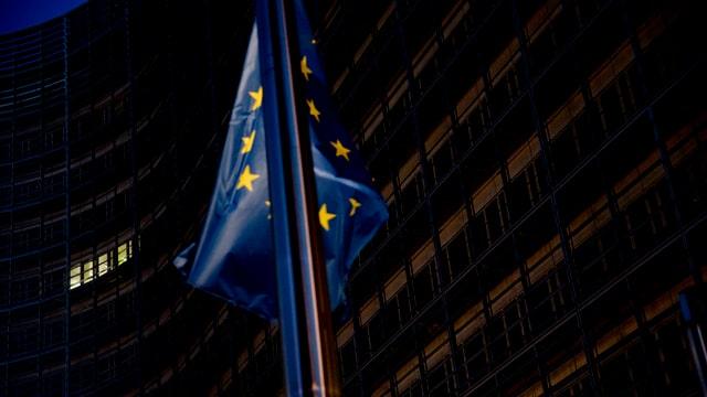 Bandiera da l'UE a Brüssel.