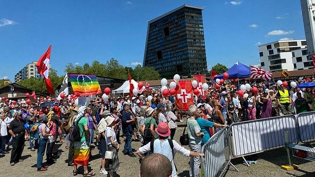 Kundgebung in Zug