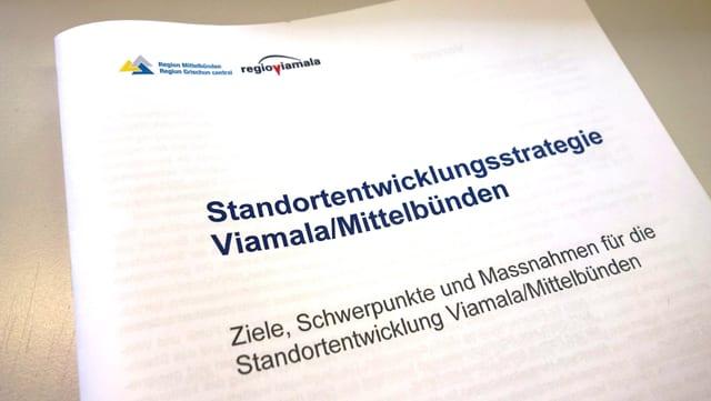 Strategia da svilup, palpiri da la Regio Viamala e Regiun Grischun Central.