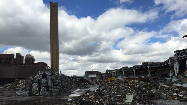 Eine abgebrochene Autofabrik in Ontario.