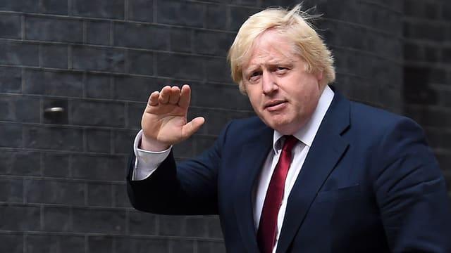 Boris Johnson kurz nach seiner Berufung zum Aussenminister.