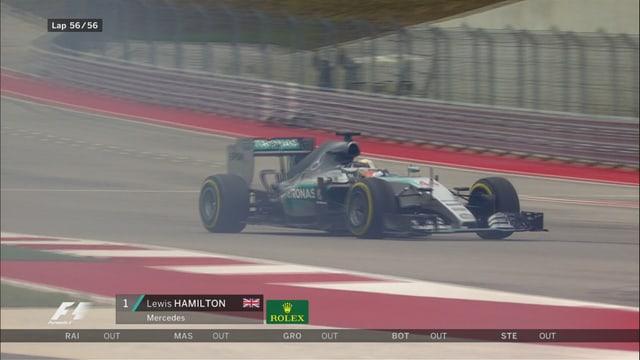 Lewis Hamilton gewinnt das Rennen und krönt sich zum Champion.