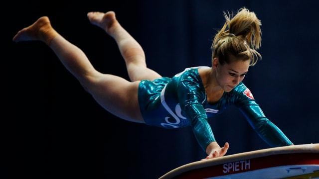 Giulia Steingruber möchte ihren EM-Sieg am Sprung wiederholen.