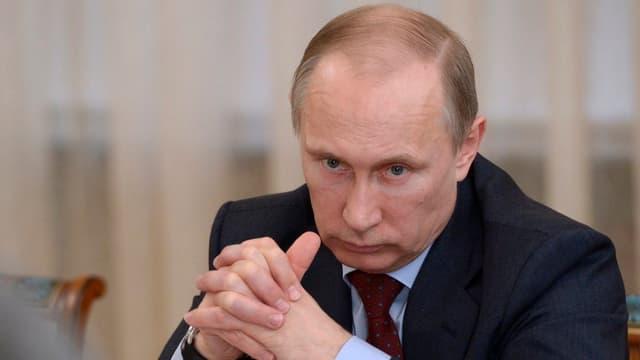 Porträt von Wladimir Putin.