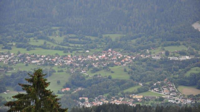 Vista sin Fürstenaubruck, Masein, Scharans, Tumleastga.