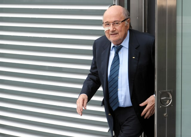 Sepp Blatter nach seiner Suspendierung als Fifa-Präsident.