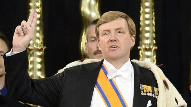 Willem-Alexander legt den Schwur ab.