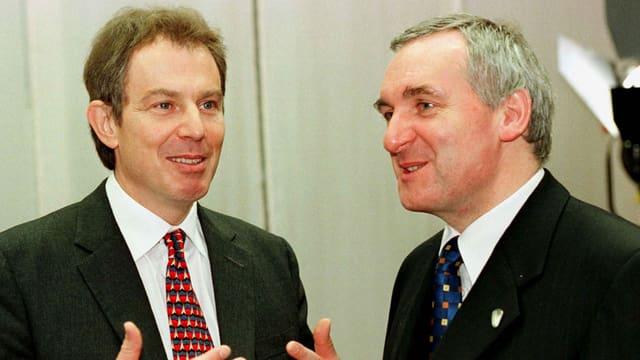 Blair und Ahern im Jahr 1997.