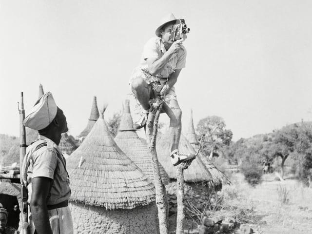 René Gardi war immer wieder in Afrika als Filmemacher unterwegs.
