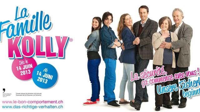 Mit der Familie Kolly sensibilisiert der Kanton Freiburg für aufmerksameres und vorsichtigeres Verhalten im Alltag.