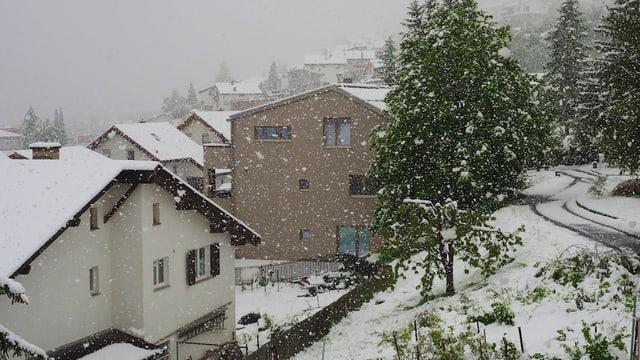 In Scuol schneite es am 20. Mai, sonst war es im Engadin aber meist viel zu warm.
