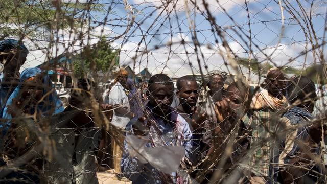 Somalische Flüchtlinge im Flüchtlingslager Dadaab in Kenia.
