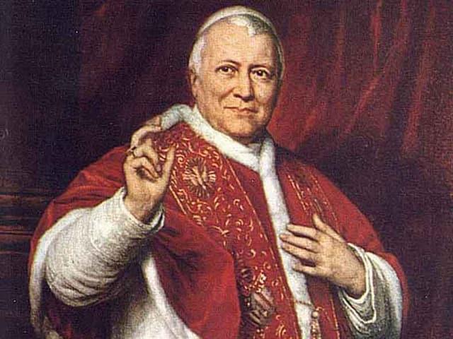 Ein Portrait von Papst Pius IX.