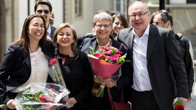 Cesla Amarelle (SP), Nuria Gorrite (SP), Béatrice Métraux (Grüne) und Pierre-Yves Maillard (SP)