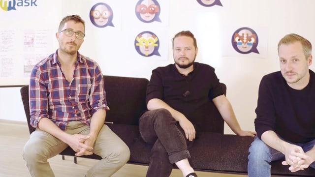 Die App-Entwickler: Christoph Wirz, Jonas Schwarz und Fabian Schumacher (v.l.n.r.)