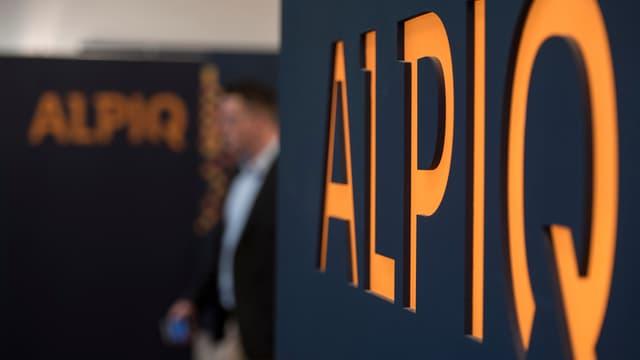 Il logo dad Alpiq, simplamain in maletg simbolic.