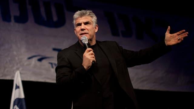 Yair Lapid bei einer Wahlkampfveranstaltung.