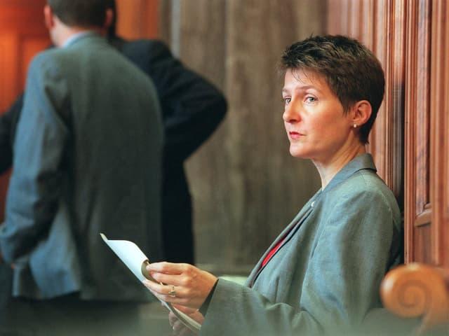 Simonetta Sommaruga im Jahr 2000 im Bundeshaus