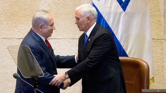 Netanjahu und Pence