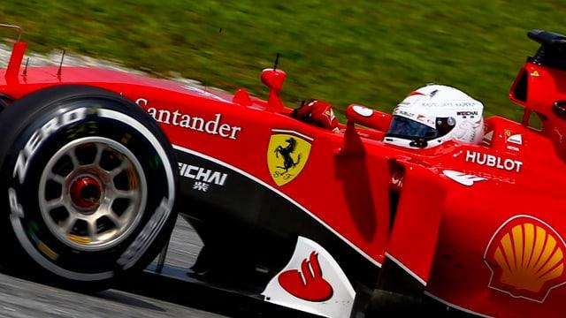 Sebastian Vettel en ses Ferrari