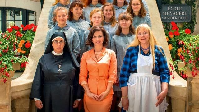 Frauen auf einer Treppe