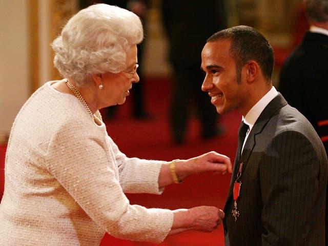 Die Queen und Lewis Hamilton
