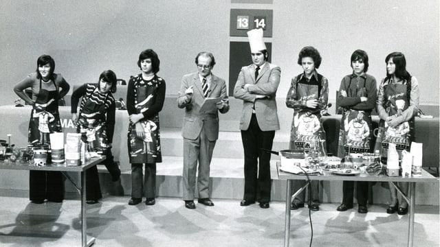 Tista Murk ha moderà dal 1973 fin 1975 il gieu televisiv «Testas finas».