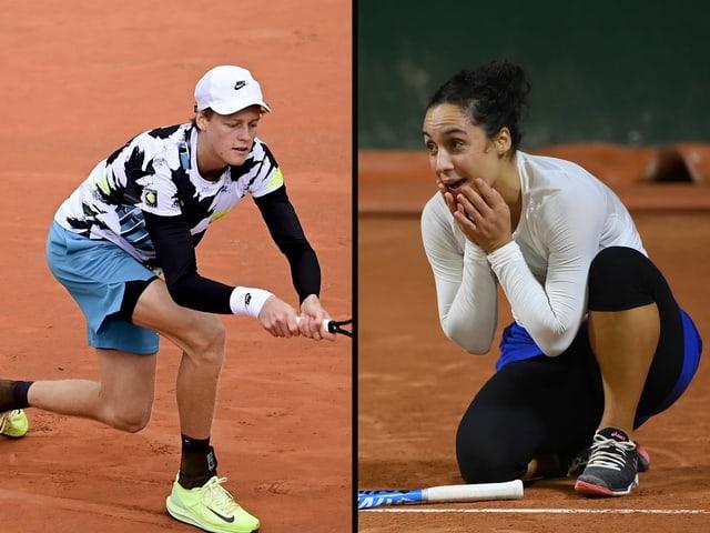 Jannik Sinner und Martina Trevisan