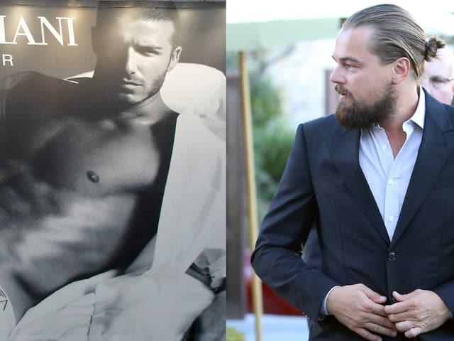 David Beckham und Leonardo DiCaprio
