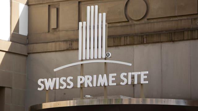 Logo von Swiss Prime Site am Hauptsitz in Olten.