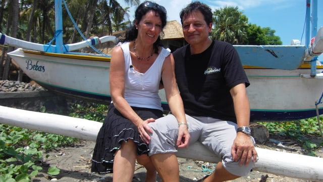 Anni Kuhn und Orlando Stamm 2010 in Bali