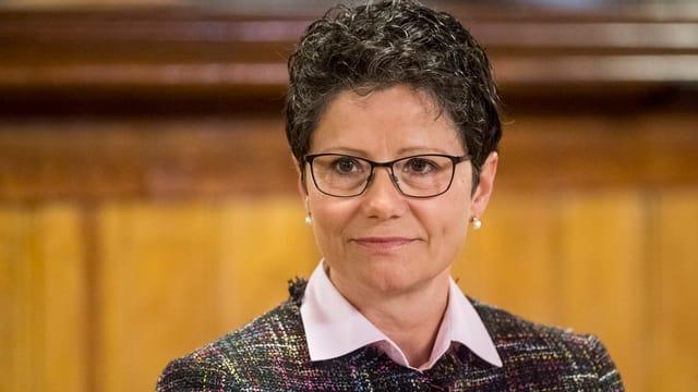 Porträt der Obwaldner FDP-Regierungsrätin Maya Büchi.