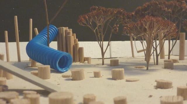 Modell des geplanten Spielplatzes in Bubendorf.