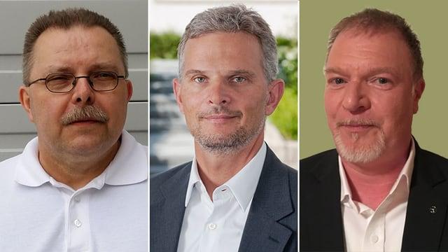 Porträt von Roger Mingard, Sebastian Haas und Thomas Zeeck.