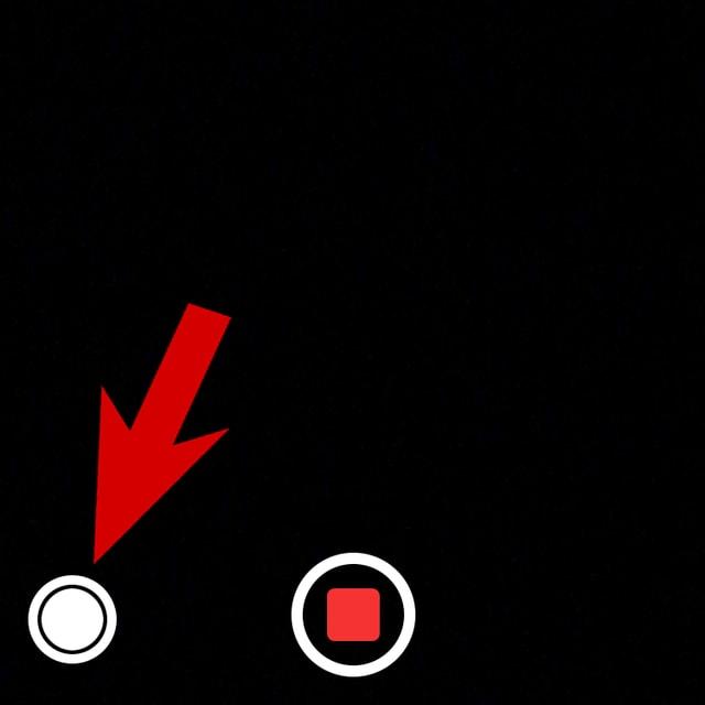 Mit diesem Knopf schiesst du Fotos, während du ein Video aufnimmst