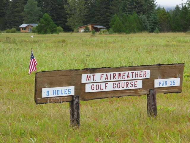 Der Mt. Fairweather-Golfplatz.