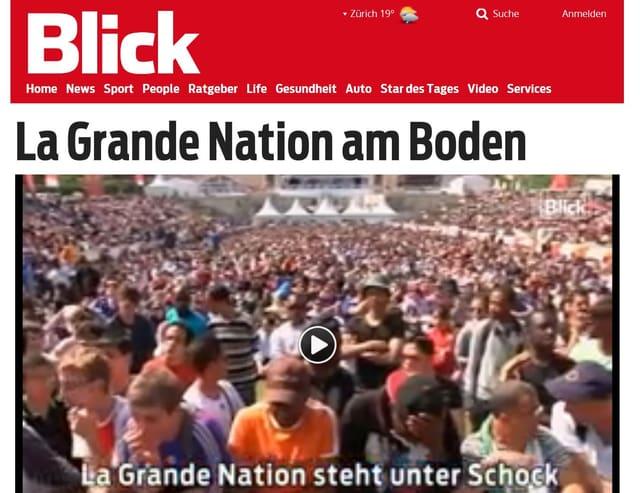 Schlagzeile im Blick: La Grande Nation am Boden