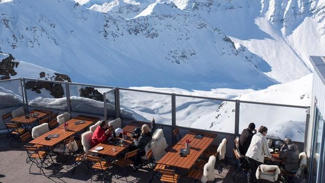 Bergrestaurant im Winter