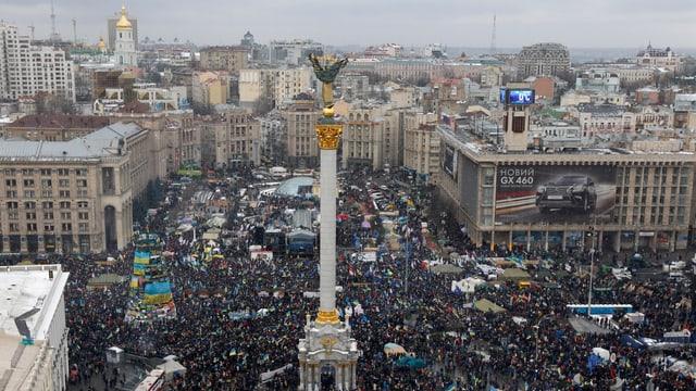 Der Maidan-Platz in Kiew.