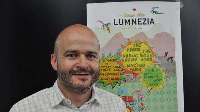 Norbert Cavegn, il president dal comité d'organisaziun da l'Open Air Lumnezia.