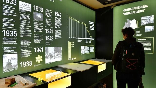 Frau in einer Ausstellung