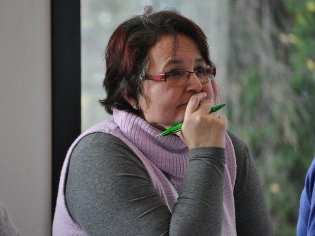 Teilnehmerin im Kurs