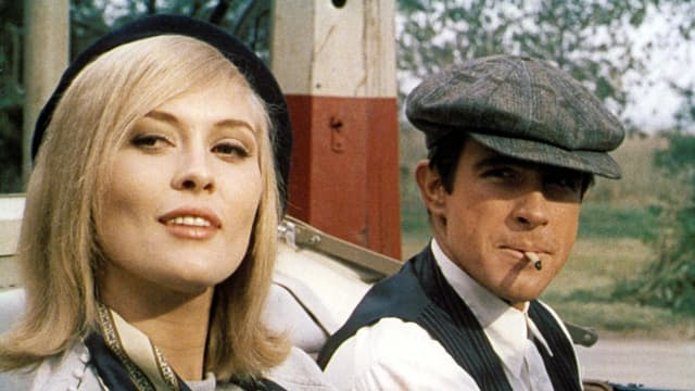 Faye Dunaway & Warren Beatty im Auto