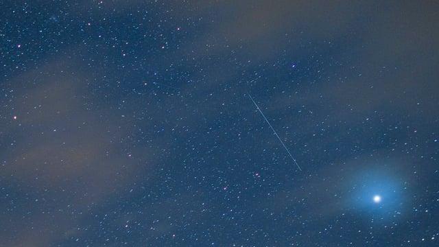 Der Sternenhimmel über dem Säntis am 12. August 2010.